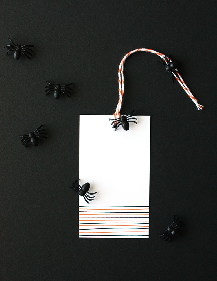 Halloween Stripe Tags