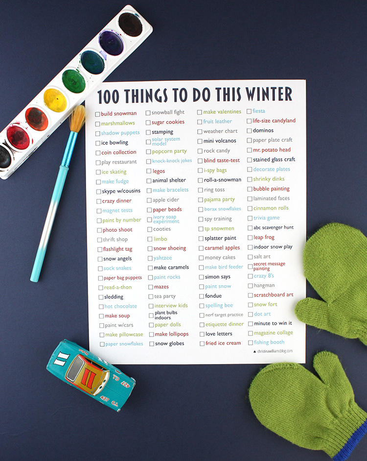 Winter Activity List
