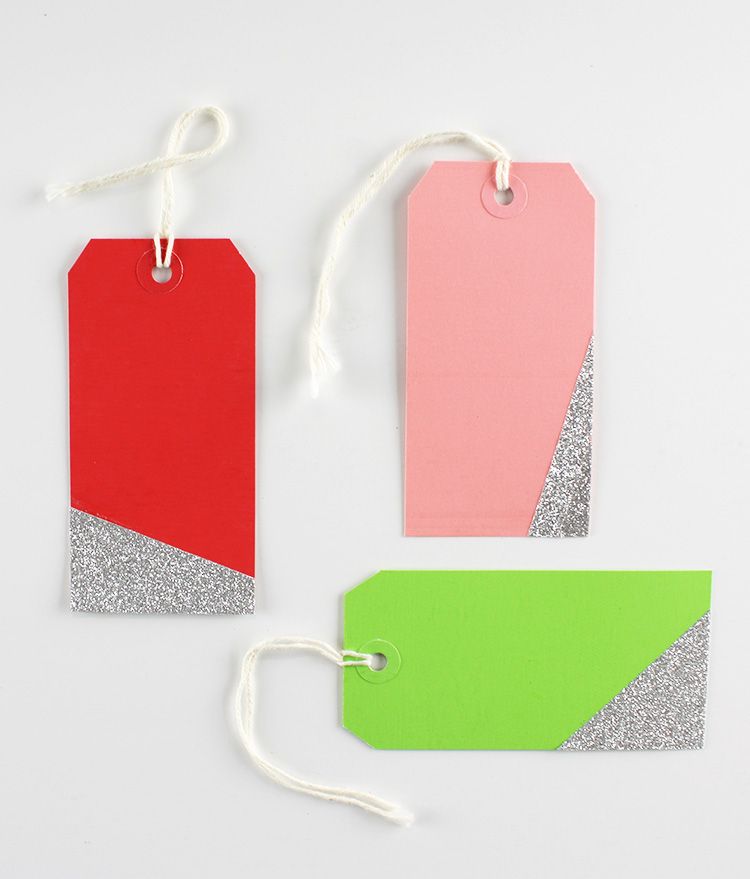 Glitter-Dipped Tags