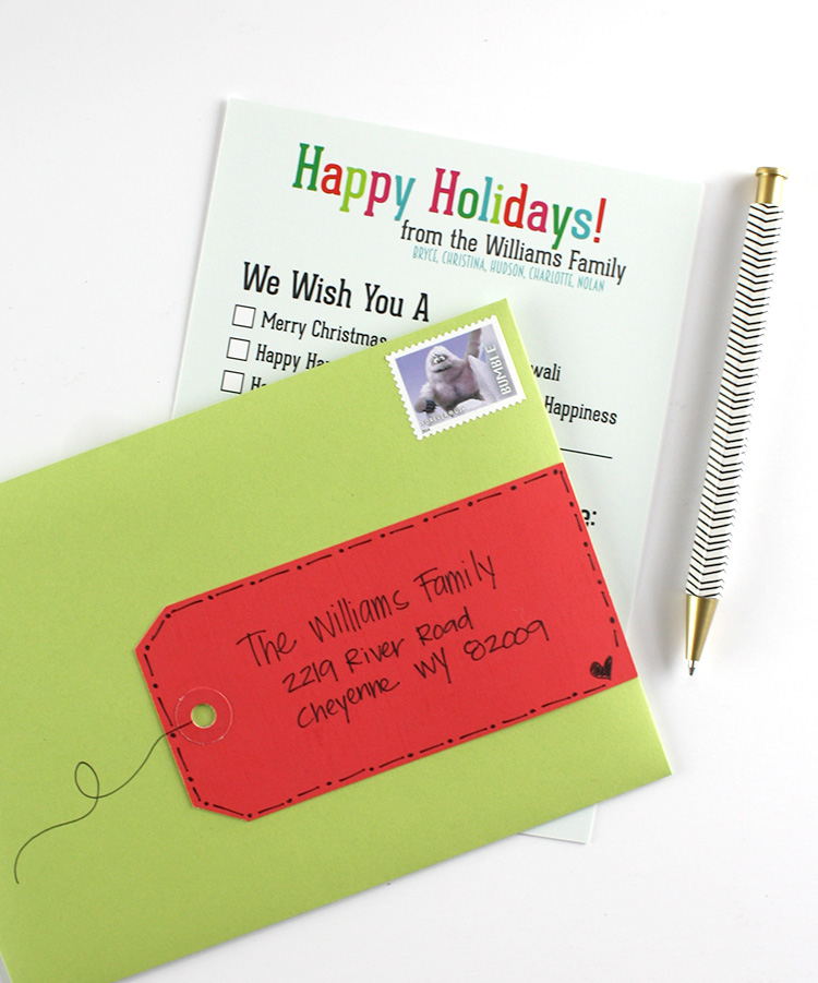 Gift Tag Address Label