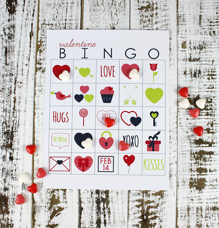 Printable Valentines Day Bingo Christina Williams – Valentine Bingo Card