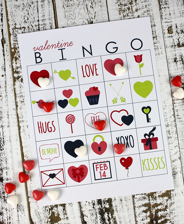photograph about Valentines Bingo Printable known as Printable Valentines Working day Bingo Christina Williams