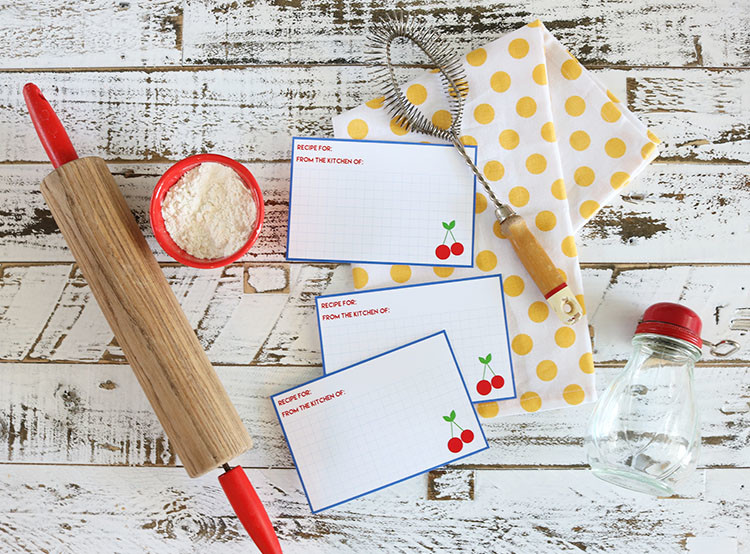 Classic Cherry Recipe Cards