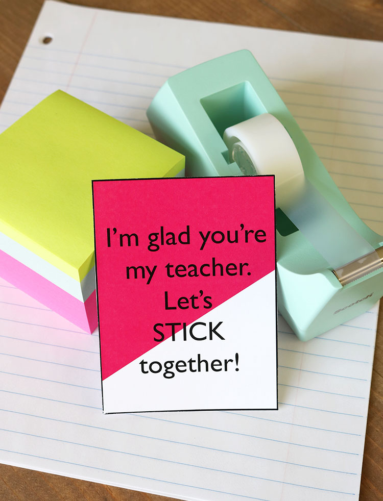 Printable tags for Teacher Gifts