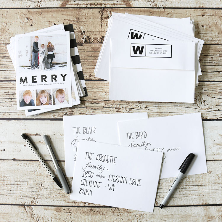 Black and White Holiday Greeting Cards