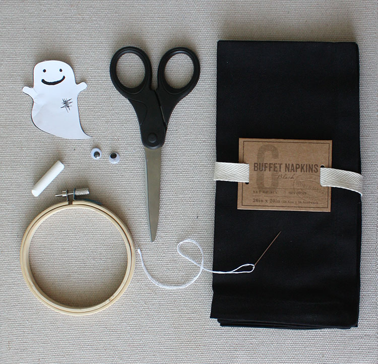 Stitched Ghost Napkin Supplies