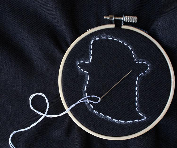 Stitched Ghost Napkins | Christina Williams
