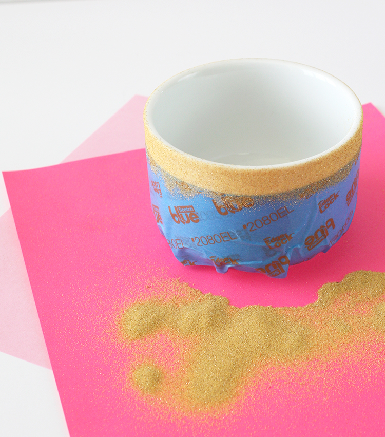 DIY Glitter-Dipped Planter