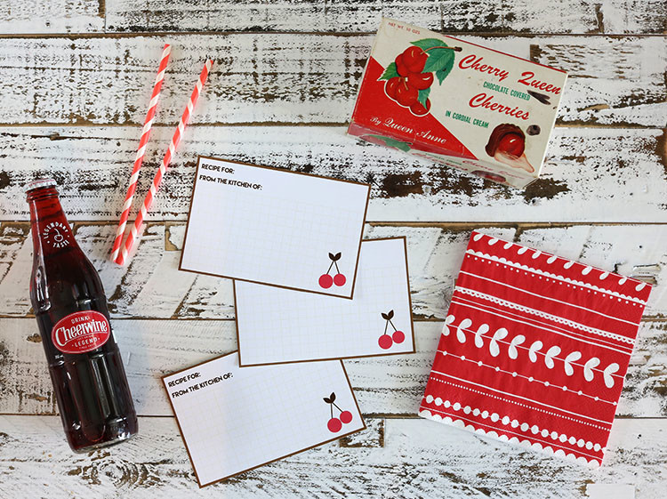 Chocolate Cherry Recipe Cards