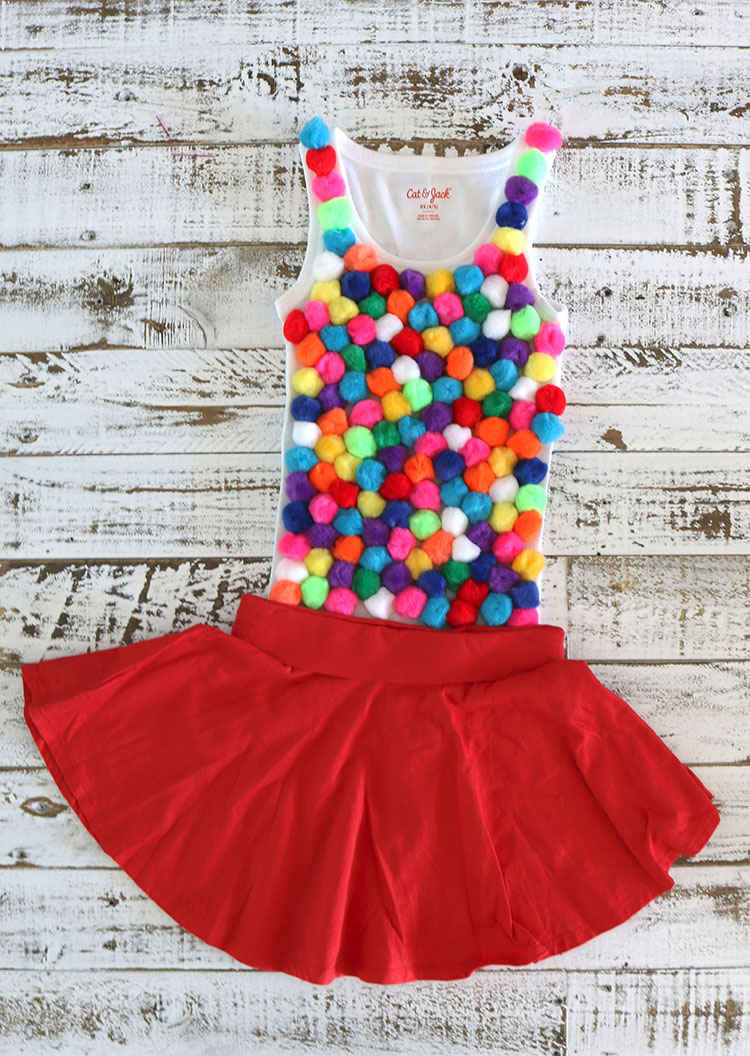 DIY Gum Ball Machine Costume