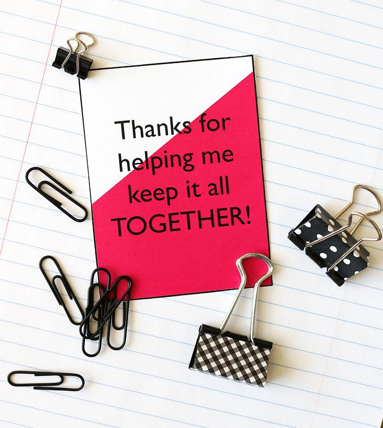 Simple ideas for teacher gifts