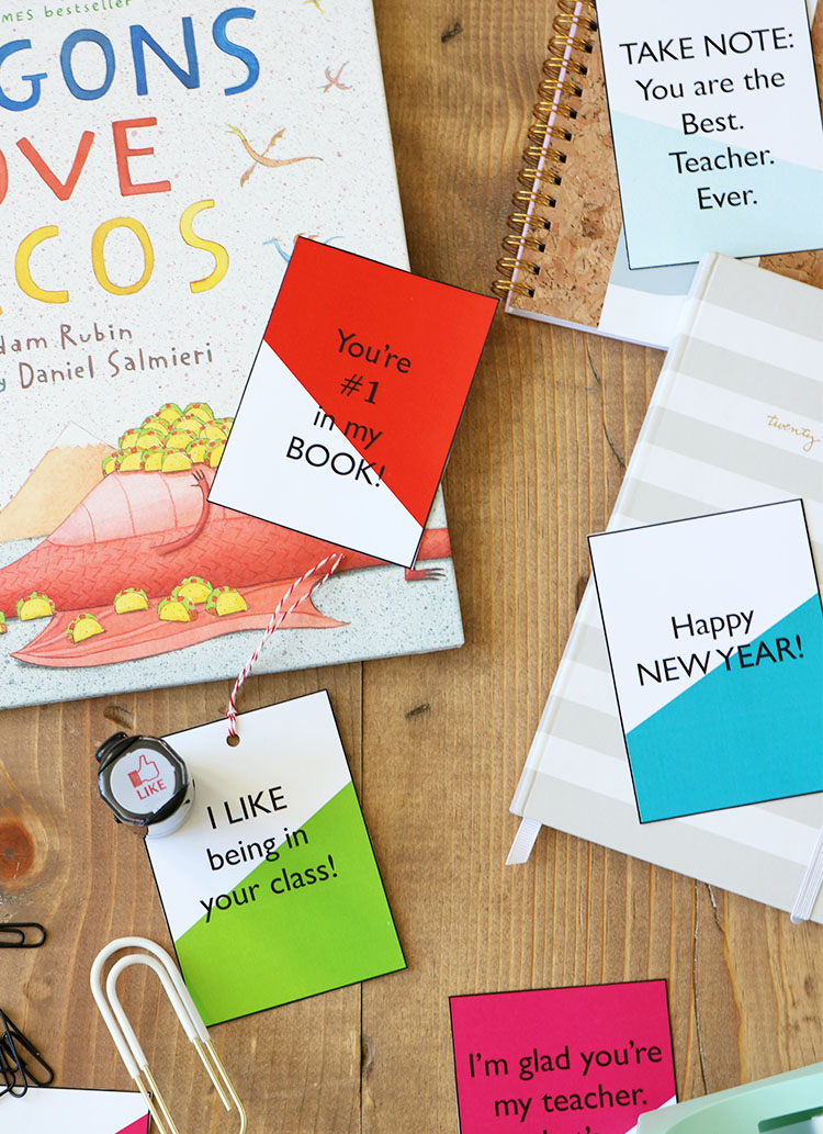 free printable tags for teacher gifts