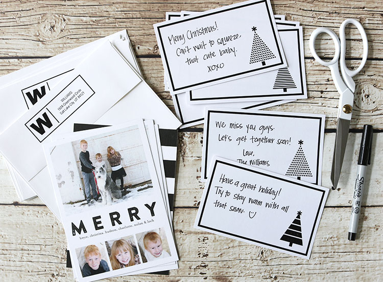 Personalize your holiday greeting cards