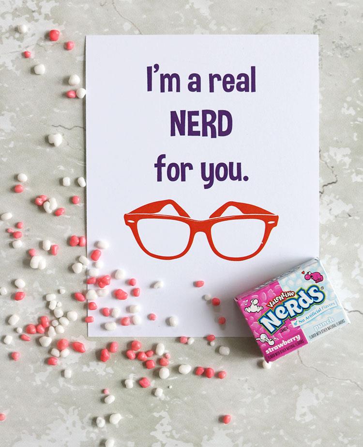 Printable Nerds Valentine